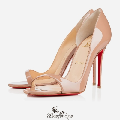 Toboggan 100mm Nude Patent Leather BSCL570632