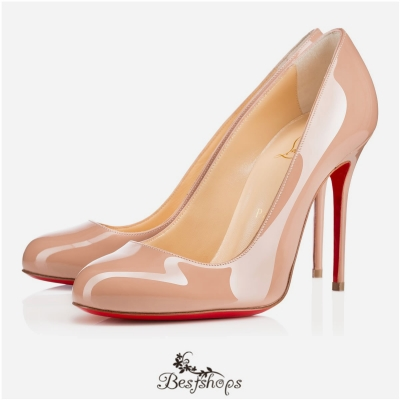 Fifi 100mm Nude Patent Leather BSCL805649